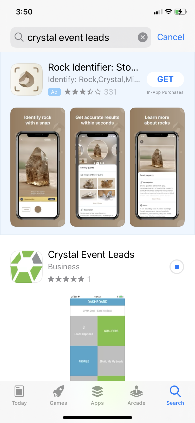 Crystal Event Leads